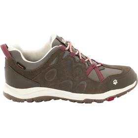 Jack Wolfskin Rocksand Texapore Low Shoes Women dark ruby